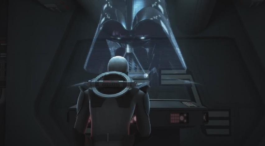 Inquisitor talks to Vader