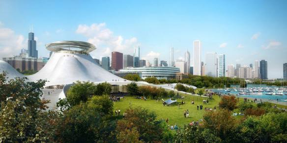 Original design concept for the Lucas Museum of Narrative Art by Ma Yansong.