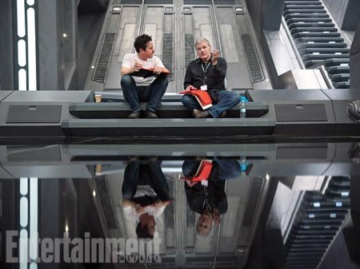 J.J. Abrams and Lawrence Kasdan