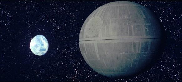 Death Star I over Alderaan