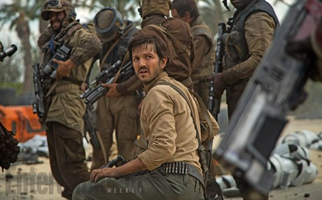 Cassian Andor with Rebel soldiers
