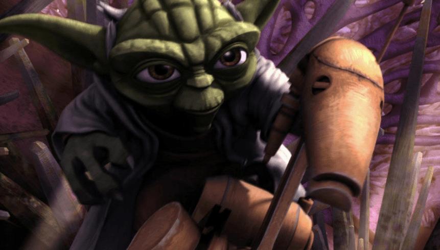 Yoda and Battle Droid Ambush
