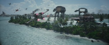 Rogue One: A Star Wars Story X-Wing and U-Wing versus AT-ACTs Photo credit: Lucasfilm/ILM ©2016 Lucasfilm Ltd. All Rights Reserved.