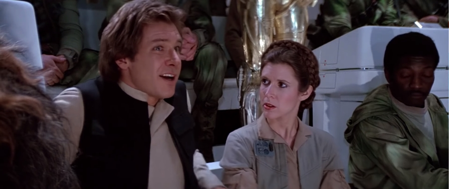 Death Star Briefing Room - Han Solo and Princess Leia