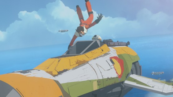 """STAR WARS RESISTANCE - Disney Channel has ordered a second season of the high-flying animated series """"Star Wars Resistance"""" for a fall 2019 premiere. The series follows Kazuda Xiono (""""Kaz""""), a young pilot recruited by the Resistance for a top-secret mission to spy on the growing threat of the First Order. Season one continues on SUNDAY, JAN. 13 (10:00-10:30 p.m. EST/PST), on Disney Channel. (Lucasfilm) POE, BB-8"""