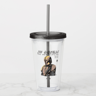 The Mandalorian Canons of Honor Graphic Acrylic Tumbler - $16.75 Available at https://www.zazzle.com/starwars.