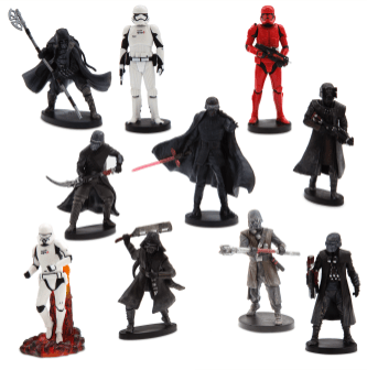 Star Wars: Rise Against Skywalker First Order Deluxe Figurine Set - $24.95 The Dark side will be felt with this Star Wars Deluxe Figurine Set. Featuring ten characters from Star Wars: Rise of Skywalker, this set will take imaginative play to a galaxy far, far away. Available at shopDisney.com | Disney store.