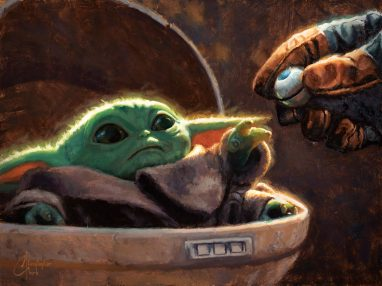 """An Unlikely Friend"" Art by Christopher Clark Available now at ACME Archives: https://www.acmearchivesdirect.com/collections/star-wars-artwork/products/an-unlikely-friend-christopher-clark"