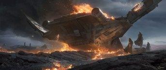 Vader Immortal Concept Art - Ship Crash