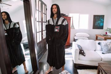 Star Wars Darth Vader Uniform Hooded Bathrobe For Adults | Big And Tall XXL