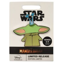 The Child and Frog Pin – Star Wars: The Mandalorian – Limited Release MSRP: $15.99 Available: March 6 Link: shopdisney.com/465051823662.html Description: Pin your hopes on Grogu, the Child from Star Wars: The Mandalorian. Even an adorable creature with the power of the Force needs to take a snack break, as he does with this enameled cloisonne pin featuring pivoting frog feet coming from his mouth.
