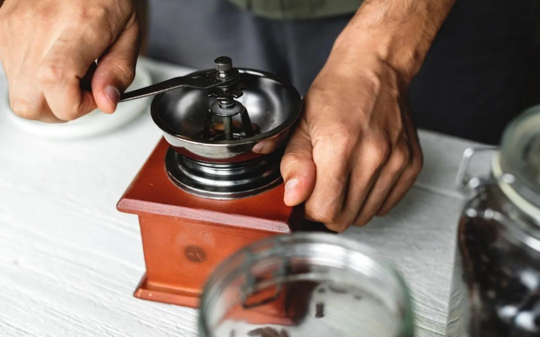 A coffee grinder will make a huge difference