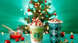 ピスタチオ クリスマス ツリー フラペチーノ ¥590 〜 ピスタチオ クリスマス ツリー Short ¥450、¥490、Grande ¥530、Venti ¥570