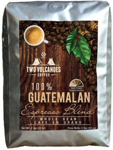 cappuccino coffee beans two volcanoes