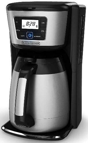 stainless steel coffee maker Black + Decker CM2035B 12-Cup Thermal Coffeemaker