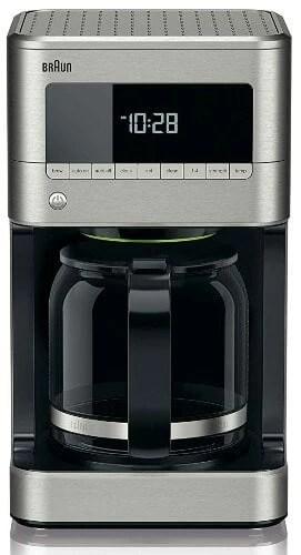 stainless steel coffee maker Braun KF7170SI BrewSense Drip Coffeemaker