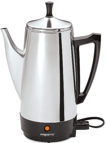 Stainless steel coffee maker Presto 02811 12-Cup Coffee Maker