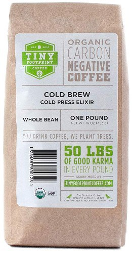 Tiny Footprint Coffee Organic Cold Brew Cold Press Elixir