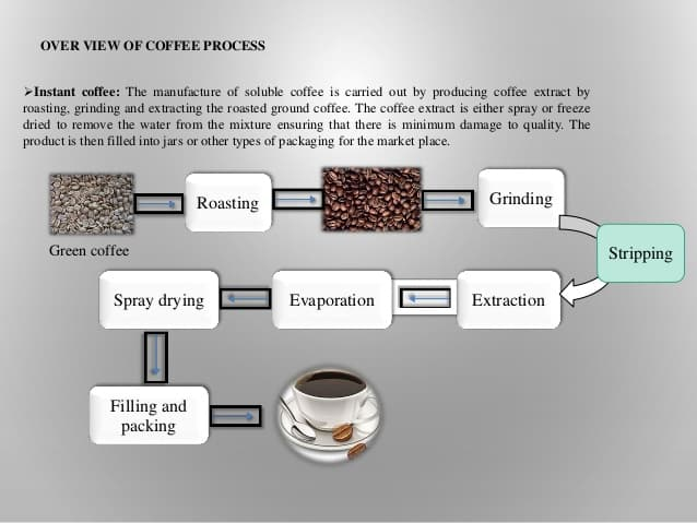 how instant coffee is made and processed