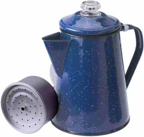 GSI Outdoors 8 Cup Enamelware outdoor percolator