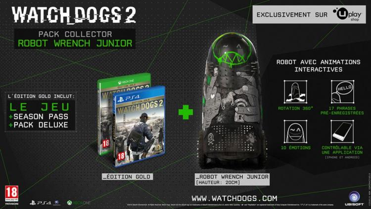 Watch Dogs 2 - Edition Pack Collector Robot Wrench Junior