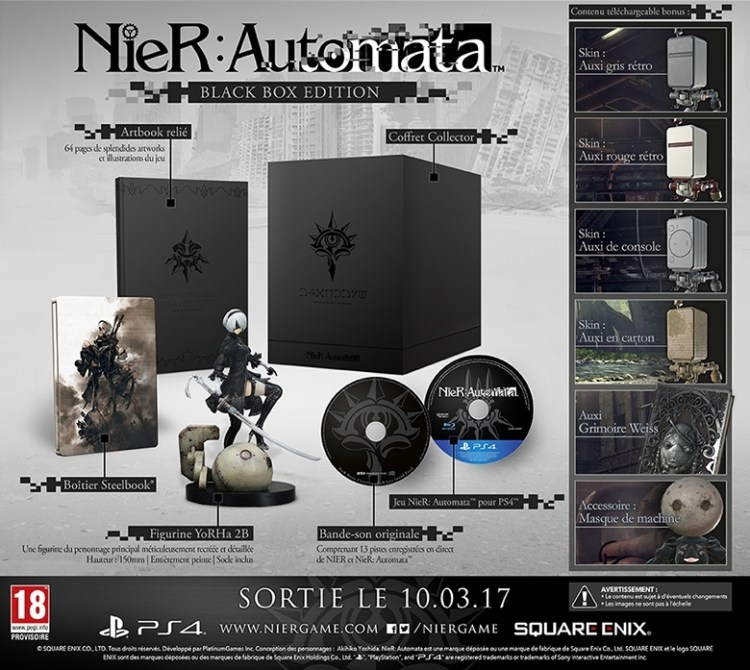 L'édition collector Black Box de NieR : Automata
