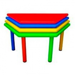 Mesa trapezoidal plastica infantil
