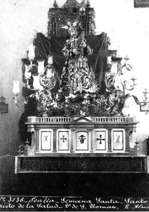 Fotografía del Cristo de los Gitanos de finales del Siglo XIX
