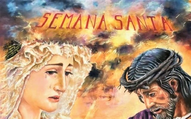 Cartel anunciador de la Semana Santa 2021 de MOGUER (Huelva)