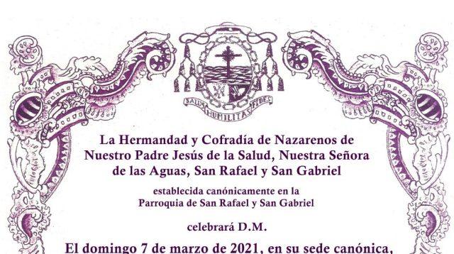 Función Principal de la Hermandad de la Salud de San Rafael de Jerez