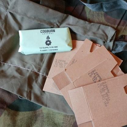 4 Pocket Bandoleer with cardboard and 12 clips