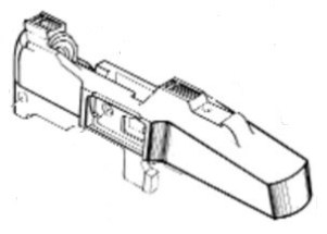 Mini-14 ranch rifle receiver Drawing