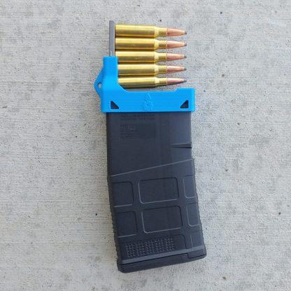 Magazine loader for AR10/SR25 rifles