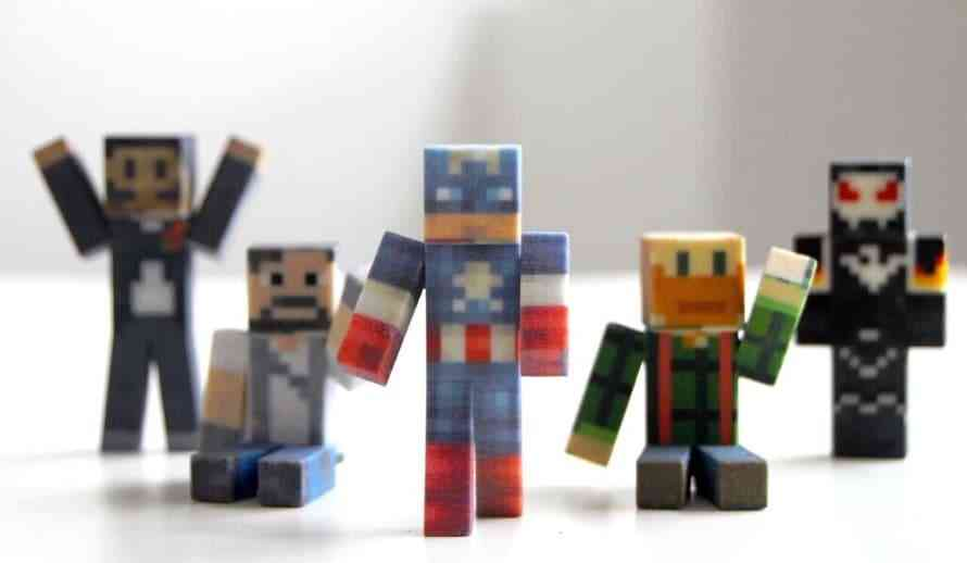 Minecraft Players Get New 3D Printed Avatars From FabZat