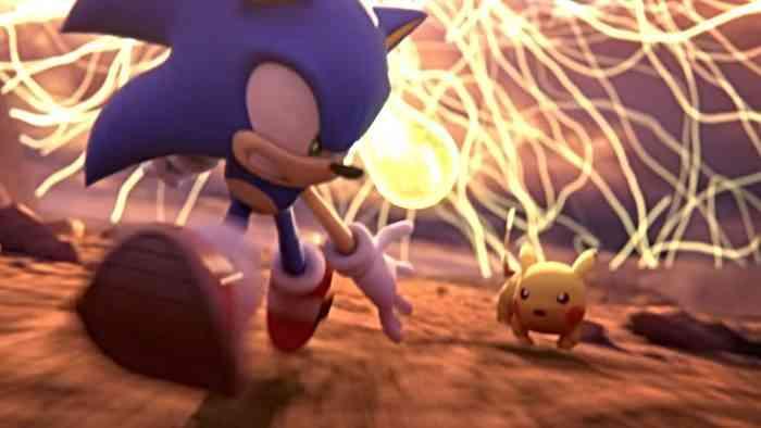 super smash bros ultimate hero - sonic and pikachu