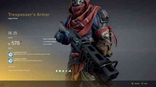 Outriders exotic armor
