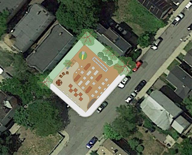 Food Project Folsom Street gardens rendering / Marie Macchiarolo