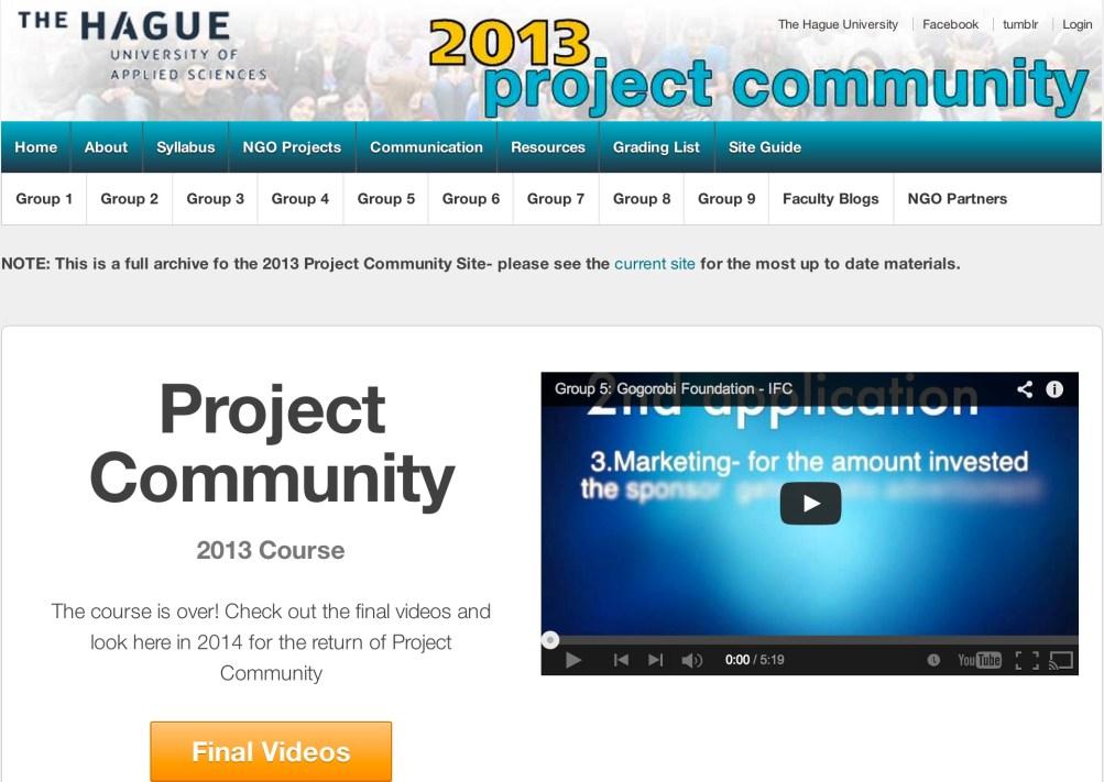 Project Community (projectcommunity.info)