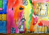 1st Grade Witch's Kitchen Watercolor