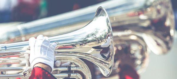 musical band playing trombone