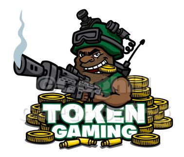 Token Gaming soldier cartoon logo