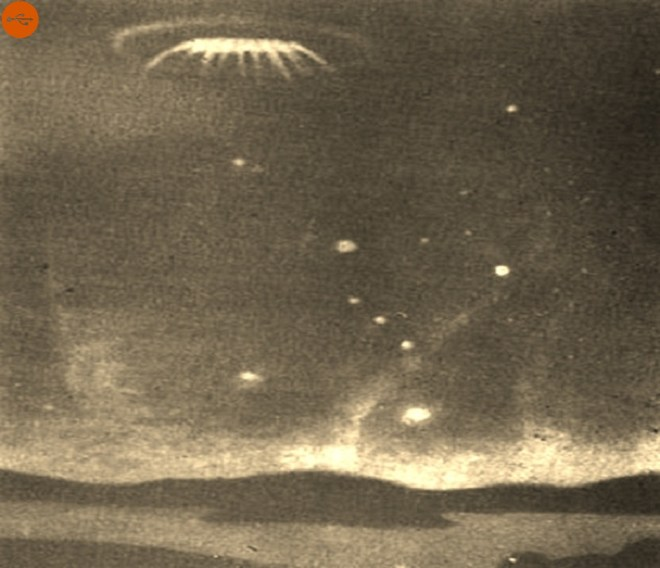 In July 1965, Argentine technicians saw a large disk-shaped UFO