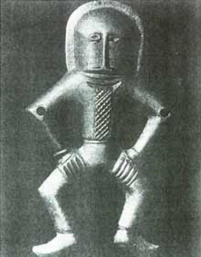 The strange creature in the armored suit of Kiev