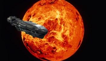 Venus, spotted huge spaceship in its orbit.