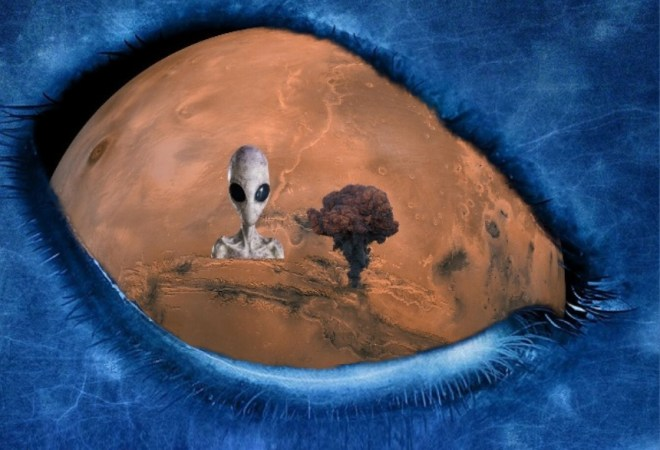 Mars, ancient Martian civilization has been wiped out by nuclear explosions produced by a hostile Alien Civilization!