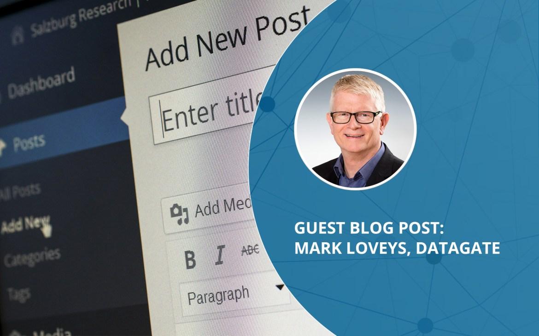 Cognition360 guest blog post: Mark Loveys, Datagate | Banner