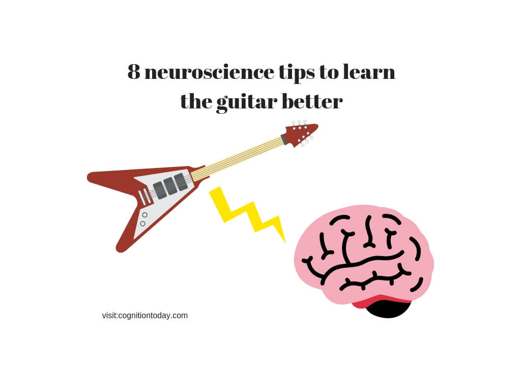 Improve guitar playing skills using insights from psychology, neuroscience, and cognitive science
