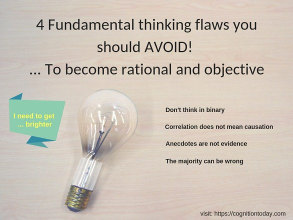 Fundamental thinking flaws you should avoid to become more rational and objective