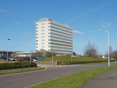 The Fujitsu building in Bracknell, United Kingdom. (Credit: Alan Hunt)