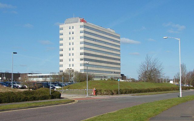 The Fujitsu building in Bracknell, United Kingdom. (Credit: Alan Hunt)
